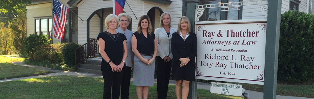 Professional legal staff at Ray and Thatcher, Canton TX